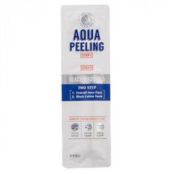 Патч для очищения пор + ватная палочка для пилинга AQUA PEELING