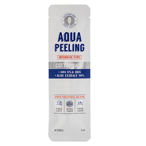 Ватная палочка для пилинга AQUA PEELING c AHA и BHA-кислотами и экстрактом алоэ (интенсивного действия)