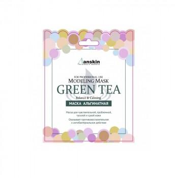 Маска альгинатная с экстрактом зеленого чая успокаивающая Green Tea Modeling Mask