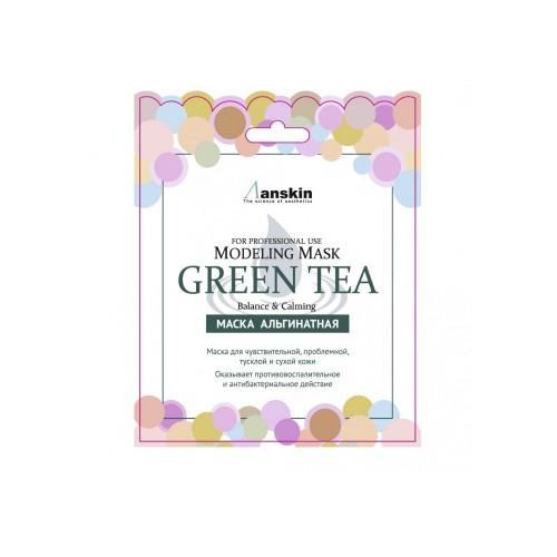 Маска альгинатная с экстрактом зеленого чая успокаивающая (саше) Green Tea Modeling Mask / Refill