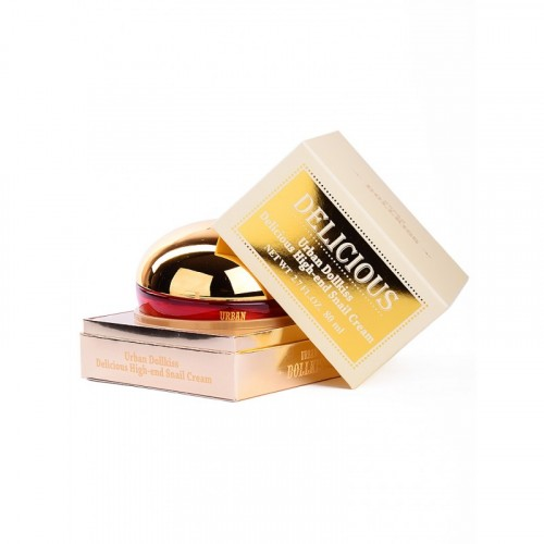 Крем питательный с экстрактом слизи улитки Urban Dollkiss Delicious High-end Snail Cream