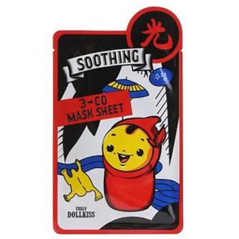 Маска тканевая успокаивающая Dollkiss 3-GO Mask Sheet Soothing