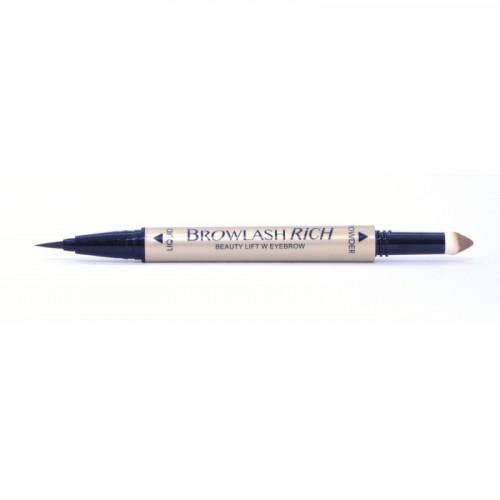 Водостойкая подводка для бровей (жидкая подв.+пудра-карандаш), для лифтинг-макияжа, коричневый