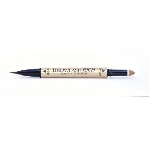 Водостойкая подводка для бровей (жидкая подв.+пудра-карандаш), для лифтинг-макияжа, светло-кор.