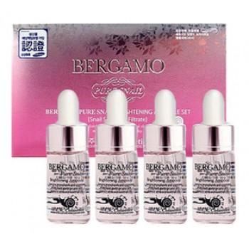 Сыворотка ампульная с муцином улитки для сияния кожи(4 ампулы), 13 ml*4, Bergamo