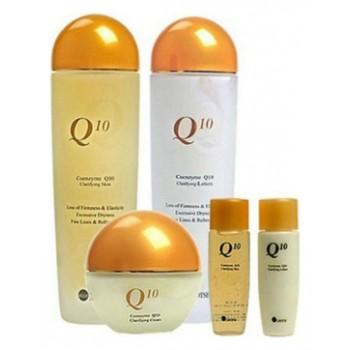 Набор средств с коэнзимом Q10, 150 ml+150 ml+50g +30 ml+30 ml, ELLELHOTSE