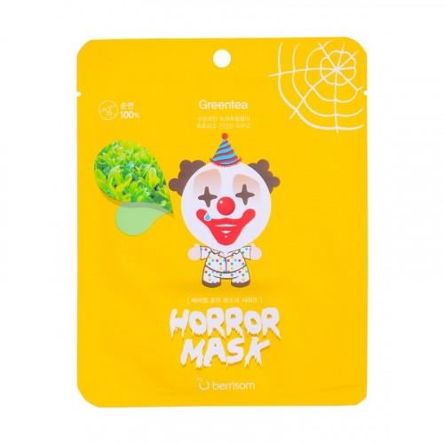 Маска тканевая с экстрактом зеленого чая Horror mask series - PIERROT
