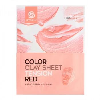Маска для лица глиняная листовая G9SKIN COLOR CLAY SHEET- TENSION RED