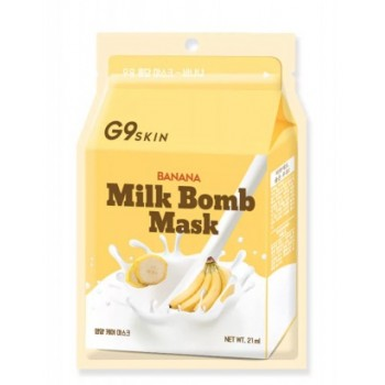 Маска для лица тканевая G9SKIN MILK BOMB MASK-Banana
