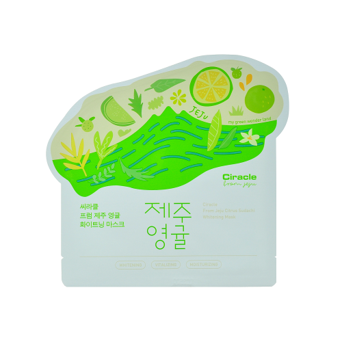 Маска для лица тканевая осветляющая Ciracle From Jeju Citrus Sudachi Whitening Mask