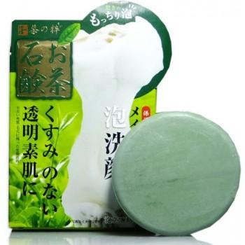 Мыло для лица с экстрактом зеленого чая в наборе с сеточкой для создания пены