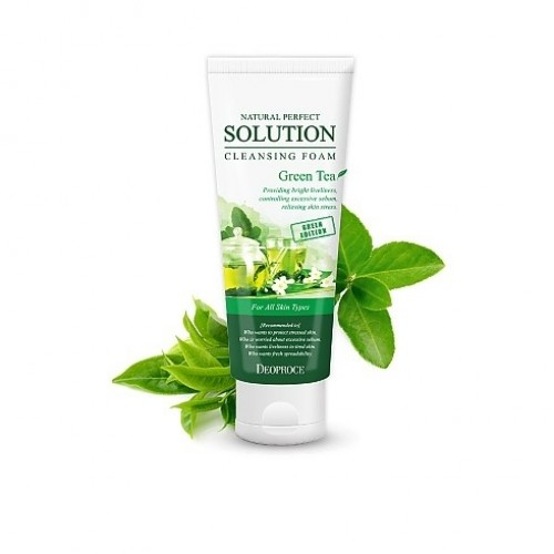 Пенка для умывания алоэ NATURAL PERFECT SOLUTION CLEANSING FOAM GREEN EDITION ALOE