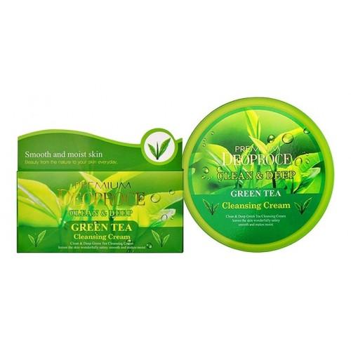 Крем для лица очищающий с экстрактом зеленого чая PREMIUM CLEAN & DEEP GREEN TEA CLEANSING CREAM