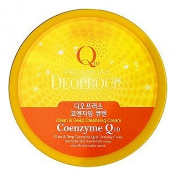 Крем для лица очищающий с коэнзимом Q10 PREMIUM CLEAN & DEEP COENZYME Q10 CLEANSING CREAM