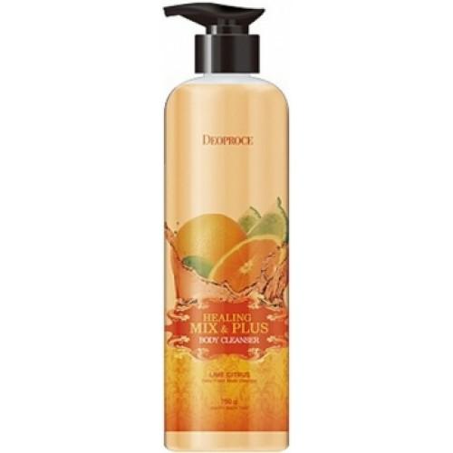 Гель для душа лимон и цитрус HEALING MIX & PLUS BODY CLEANSER LIME CITRUS