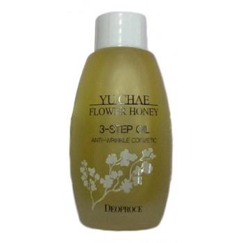 Масло для лица омолаживающее Yu Chae Flower Honey 3-Step Oil
