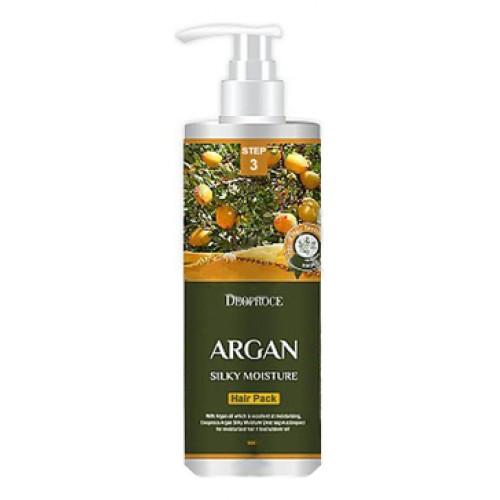 Маска для волос с аргановым маслом ARGAN SILKY MOISTURE HAIR PACK