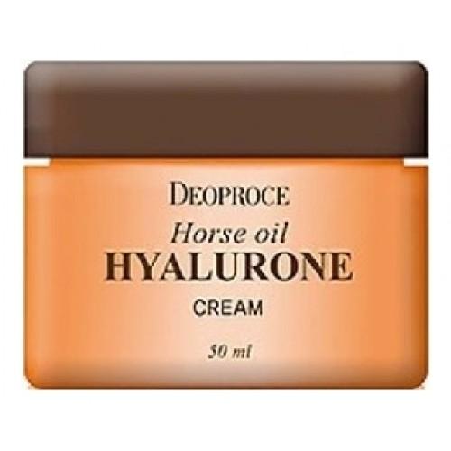 Крем для лица с гиалуроновой кислотой и лошадиным жиром Horse Oil Hyalurone Cream