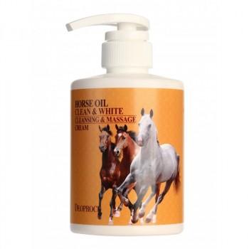 Крем массажный очищающий с лошадиным жиром HORSE OIL CLEAN & WHITE CLEANSING & MASSAGE CREAM
