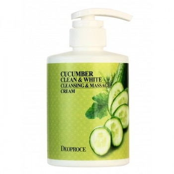 Крем массажный очищающий с экстрактом огурца CUCUMBER CLEAN & WHITE CLEANSING & MASSAGE CREAM