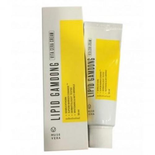 Осветляющий крем на основе натуральных экстрактов MUSEVERA Lipid Gamdong Zinc Vita Cream