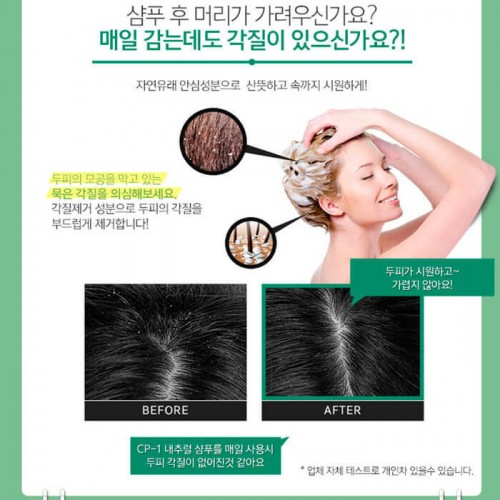 Натуральный увлажняющий шампунь для волос CP-1 Daily Moisture Natural Shampoo