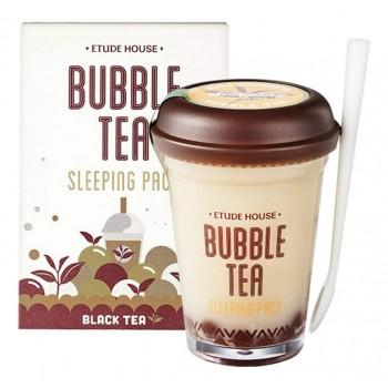 Маска ночная для лица с экстрактом черного чая Bubble Tea Sleeping Pack Black Tea