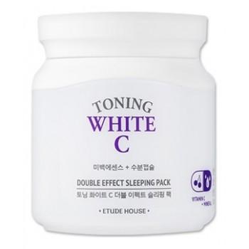 Маска для лица ночная осветляющая TONING WHITE C DOUBLE EFFECT SLEEPING PACK