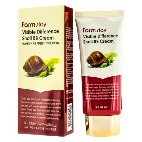 Восстанавливающий ББ крем с экстрактом улитки SPF40 PA++, 50 гр, FarmStay