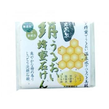 Увлажняющее косметическое мыло с медом и протеинами шелка (твёрдое)