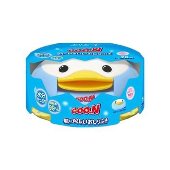 Влажные салфетки для малышей GOON пластиковый контейнер 70 шт