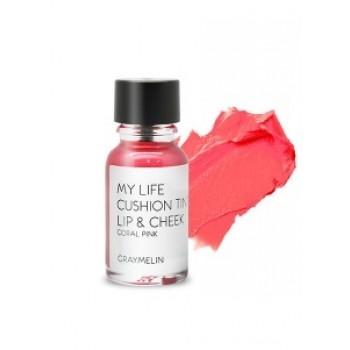 Тинт для губ и щек оттенок coral pink