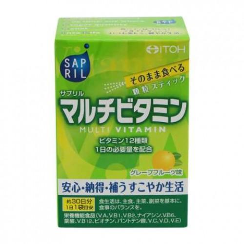 ITOH Sapril Мультивитаминный комплекс со вкусом грейпфрута (30 пакетиков на 30 дней)