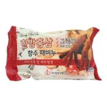 Мыло с отшелушивающим эффектом парфюмированное с красным женьшенем, 120 мл, Juno