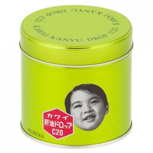 Kawai Рыбий жир с витамином С со вкусом апельсина (200 конфет)