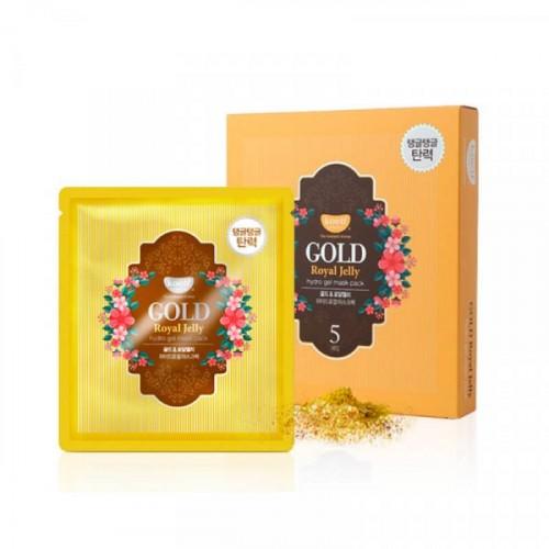 Маска для лица гидрогелевая с золотом и маточным молочком GOLD & ROYAL JELLY MASK, 5 шт