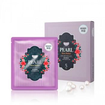 Маска для лица гидрогелевая с маслом ши и жемчужной пудрой PEARL & SHEA BUTTER, 5 шт