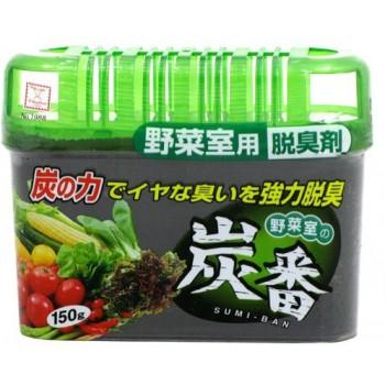 Дезодорант-поглотитель неприятных запахов KOKUBO с древесным углем для холодильников (овощная кам) 150 г