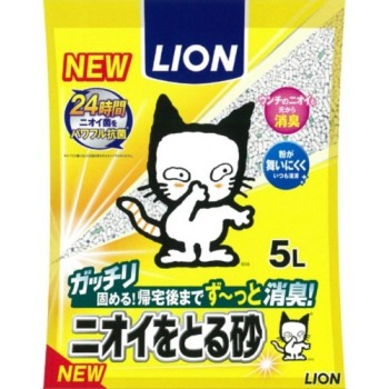 Наполнитель бентонитовый для кошачьего туалета LION 5 л