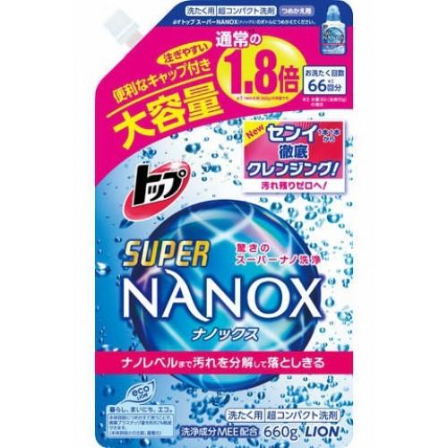 Жидкое средство для стирки LION Top Super NANOX запасной блок 660 гр