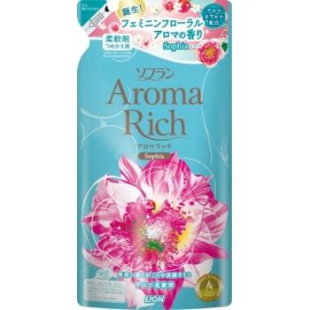 Кондиционер для белья LION Aroma Rich Sofia с женственным цветочным ароматом, запасной блок 450 мл