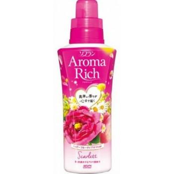 Кондиционер для белья LION Aroma Rich Scarlett с цветочно-фруктовым ароматом, флакон 550 мл