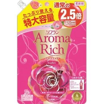 Кондиционер для белья LION Aroma Rich Scarlett с цветочно-фруктовым ароматом, мягкая уп 1125 мл
