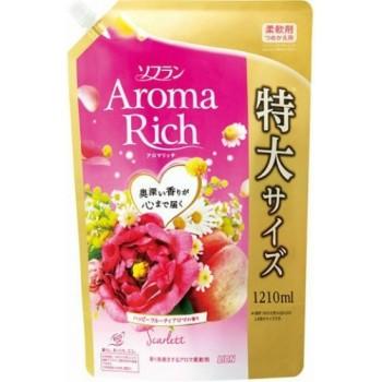 Кондиционер для белья LION Aroma Rich Scarlett с цветочно-фруктовым ароматом, мягкая уп 1210 мл