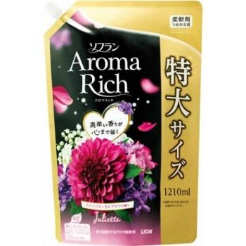 Кондиционер для белья LION Aroma Rich Juliette с ароматом ванили и жасмина, мягкая уп 1210 мл