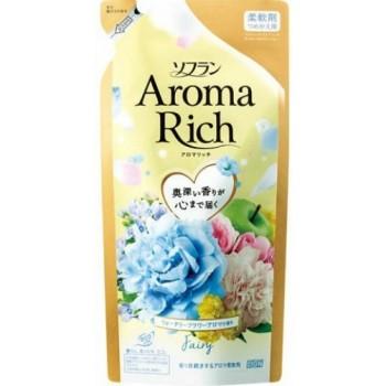 Кондиционер для белья LION Aroma Rich Fairy с ароматом ландыша и фруктов запасной блок 430 мл