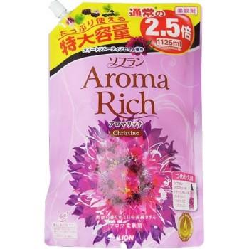 Кондиционер для белья LION Aroma Rich Christine с пряным фруктовым ароматом мягкая уп 1125 мл