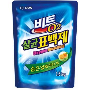 Кислородный отбеливатель Lion Beat O2 порошок мягкая упаковка 1.5 кг