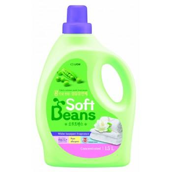 Кондиционер для белья Lion Soft Beans на основе экстракта зеленого гороха флакон 1,5л