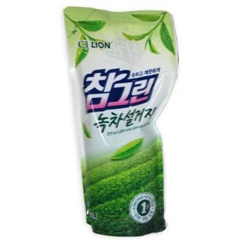 Средство для мытья посуды Lion Chamgreen С ароматом зеленого чая мягкая упаковка 800 мл